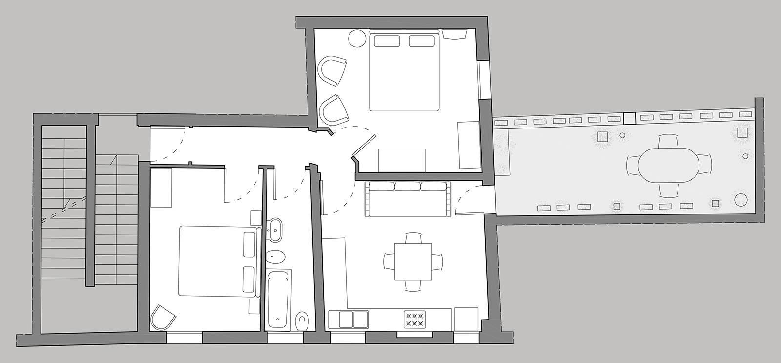 Gritti Terrace floor plan
