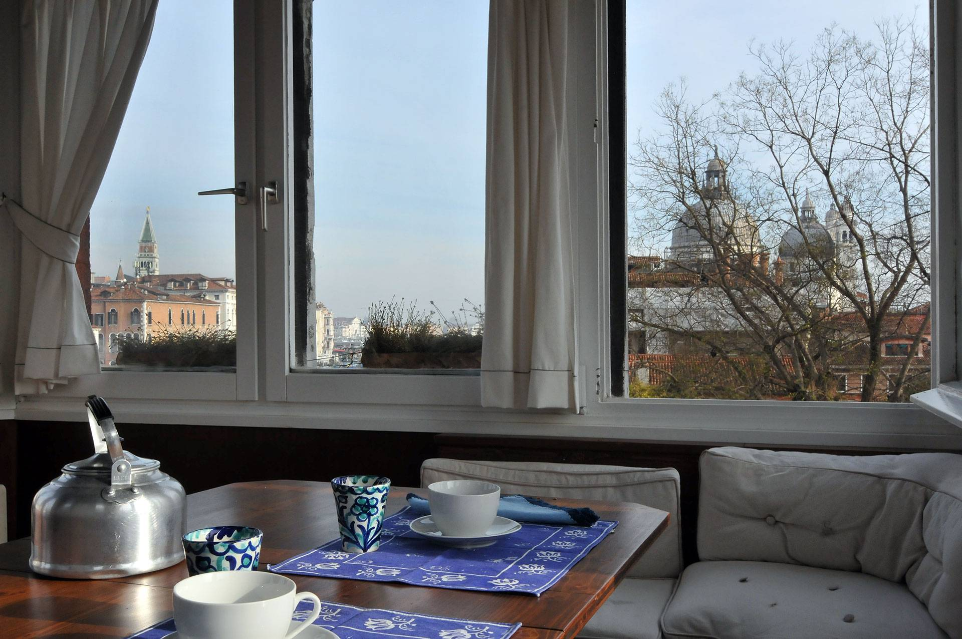 have a tè or coffee on the panoramic roof-top terrace