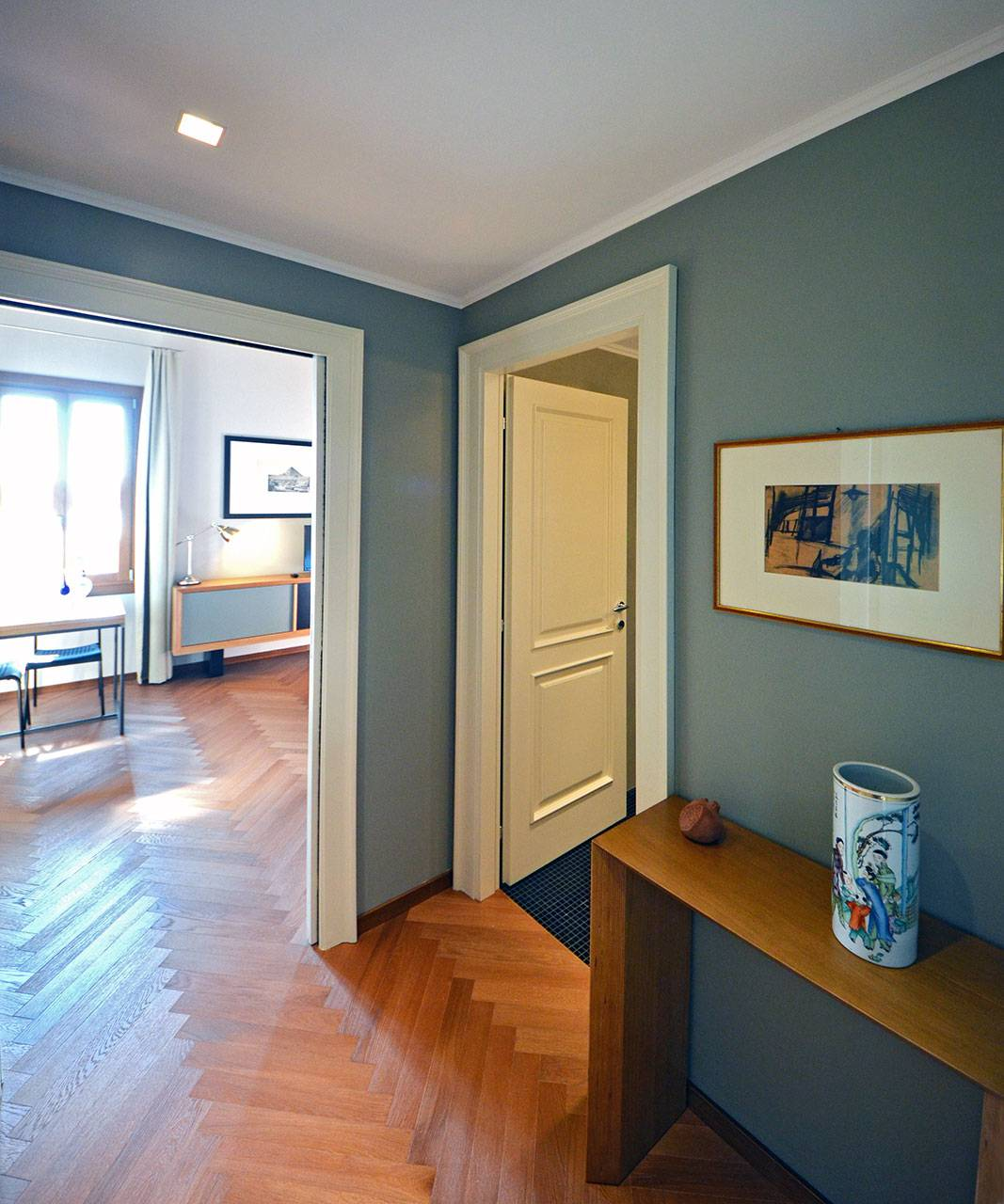 entrance to the master bedroom with access to the bathroom