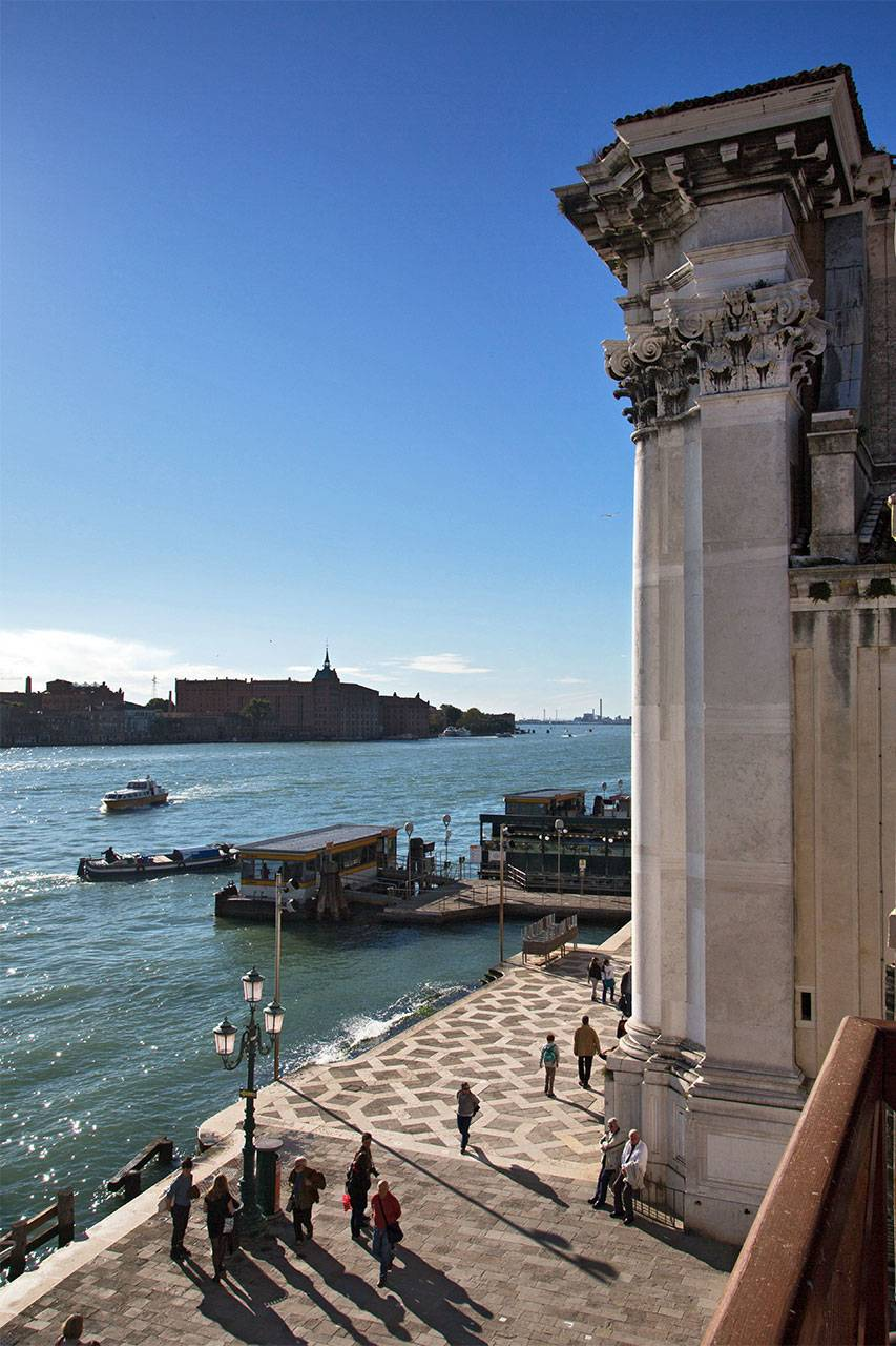 view on the church and Giudecca Canal from the balconies
