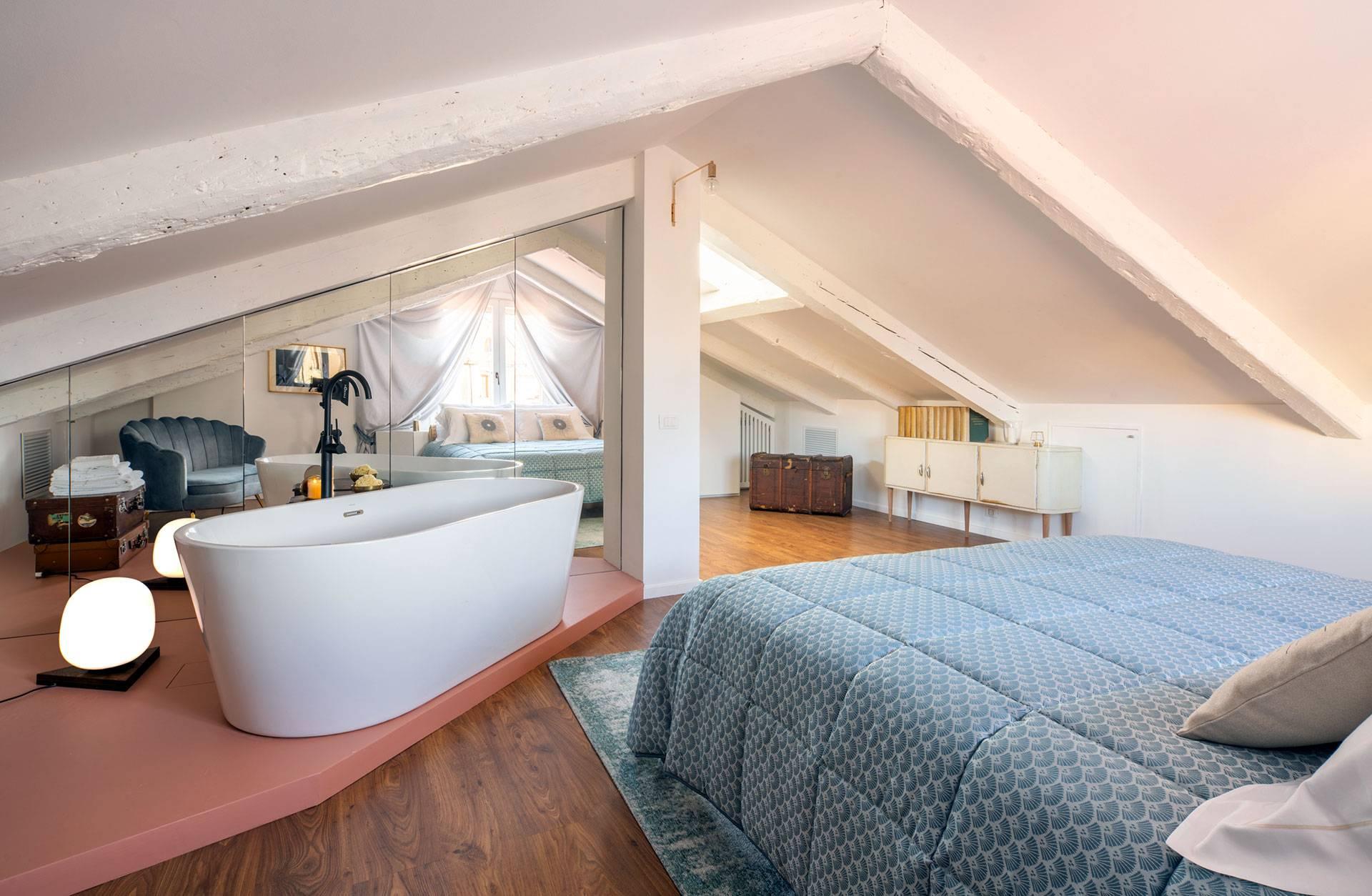 romantic free-standing bathtub