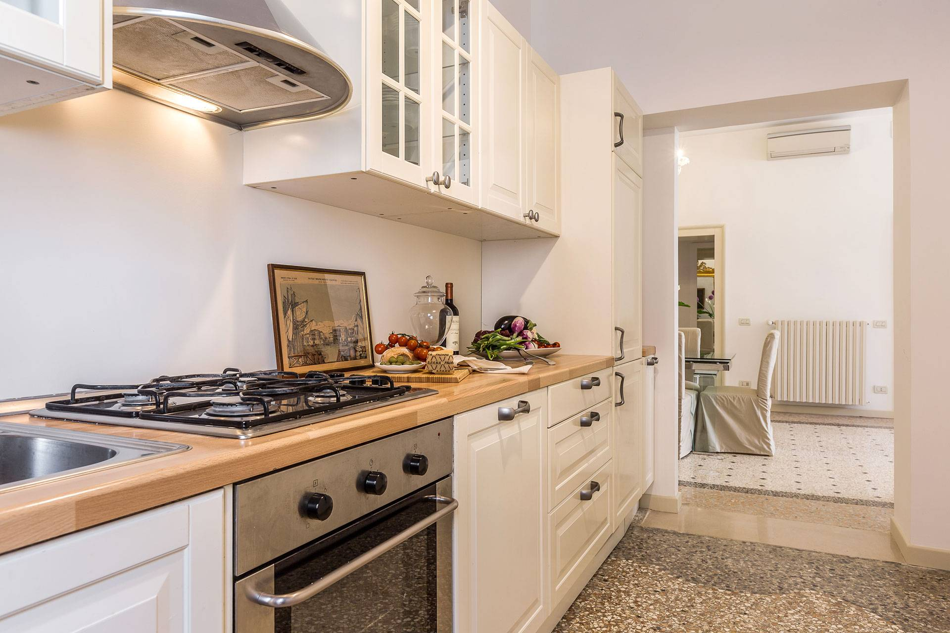 very functional kitchen