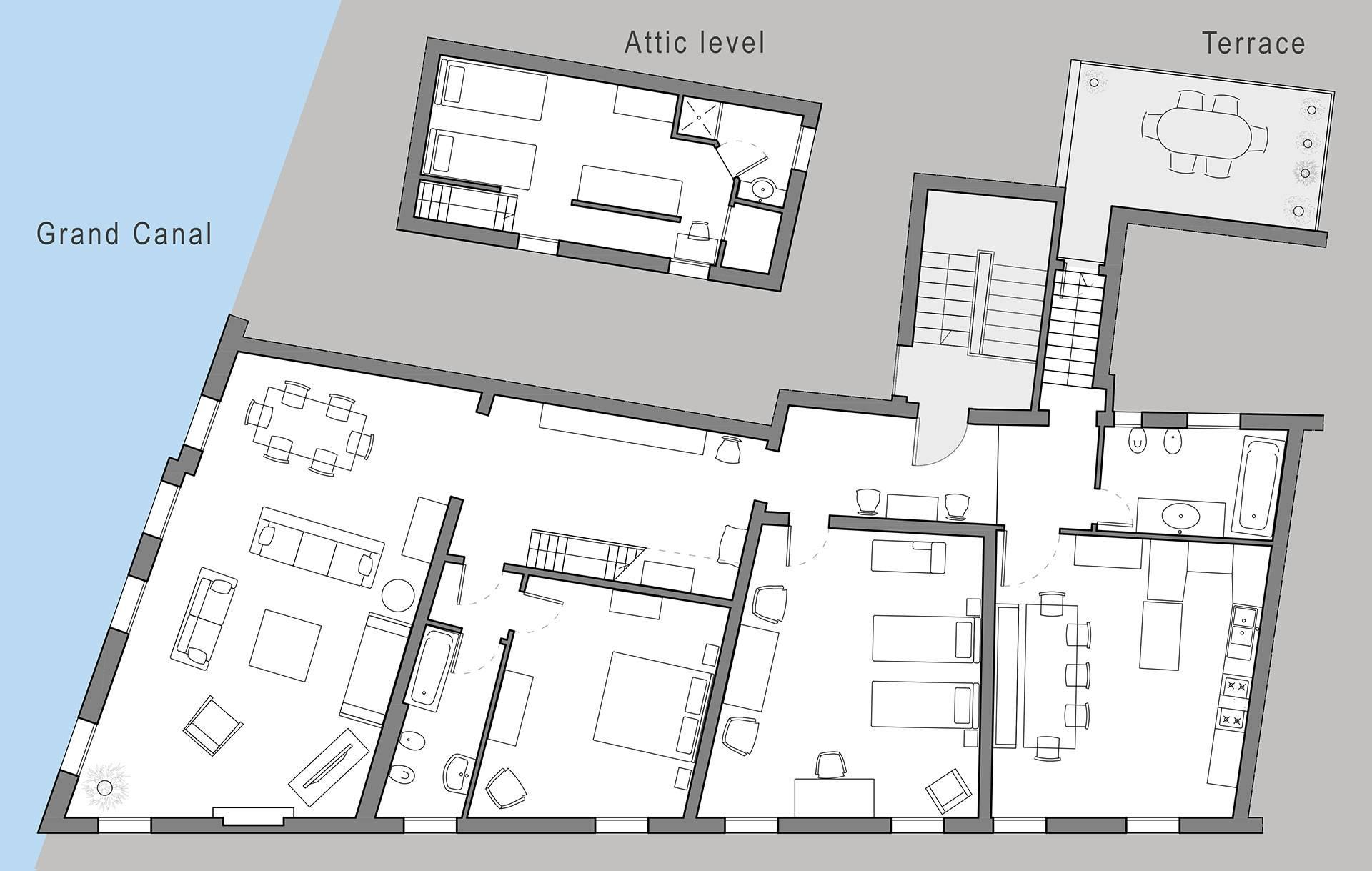 Barbarigo Terrace floor plan