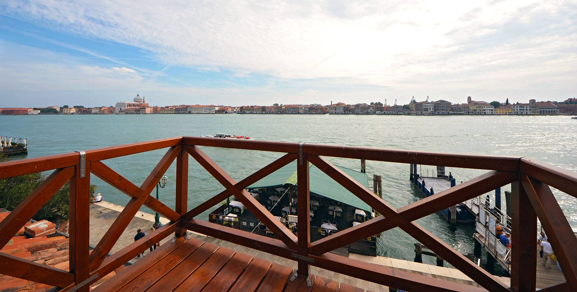 panoramic view from the Altana on Giudecca Canal