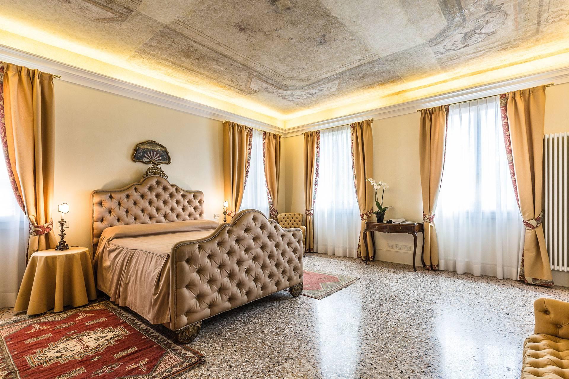 features precious frescoes and textiles
