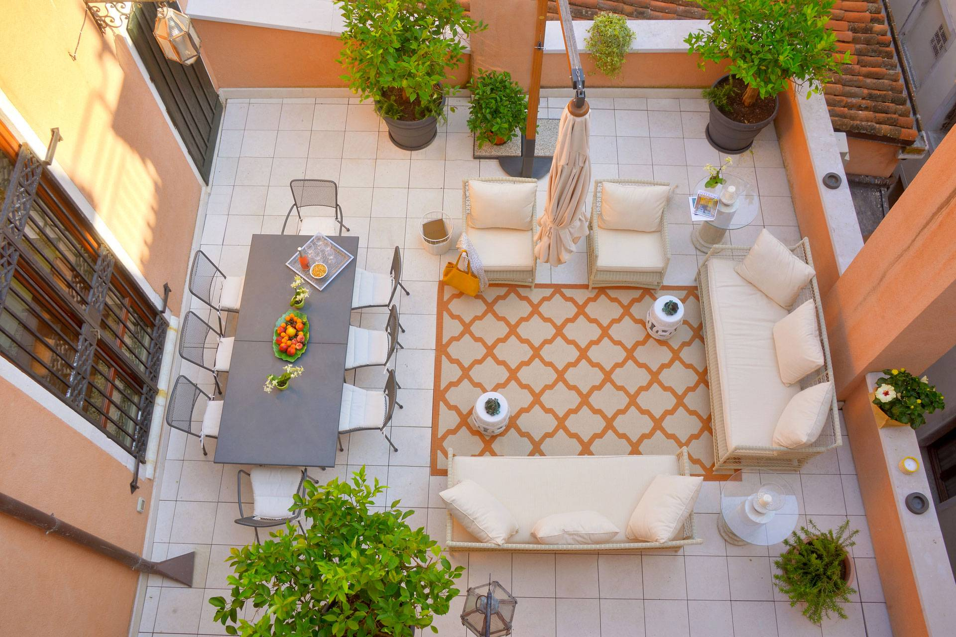 Shared Terrace (for all the guests of the Palazzo)