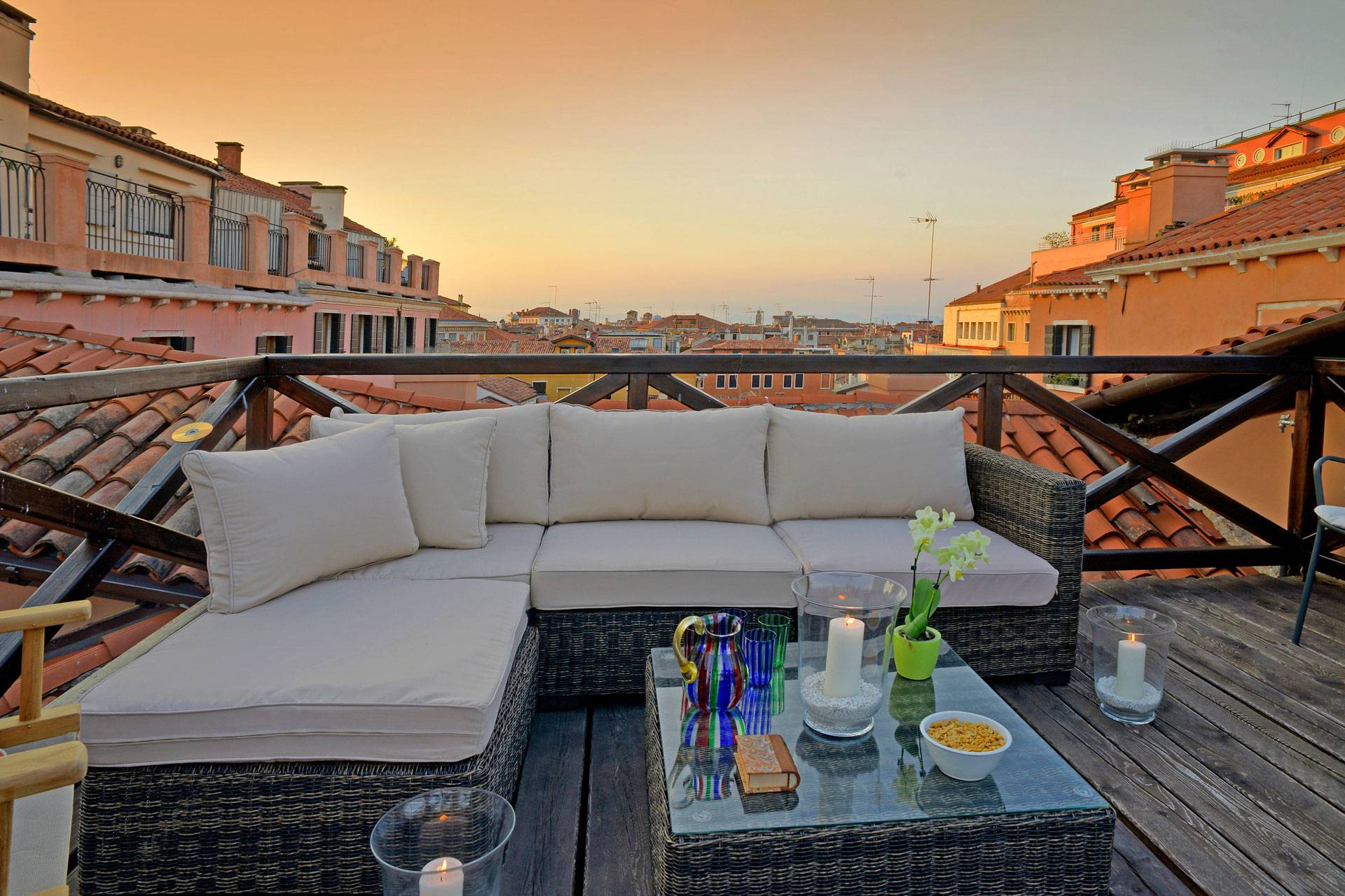 panoramic roof top terrace with stunning views